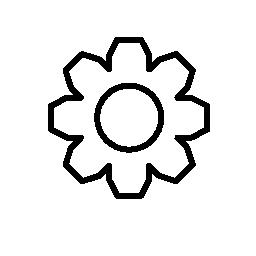 設定インタ フェース ギア シンボル バリアント無料アイコン