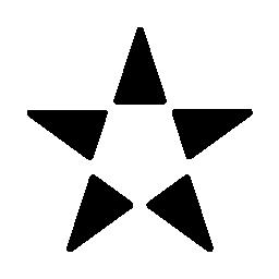 5 つの三角形とポイント無料アイコンが付いた星形バリアント