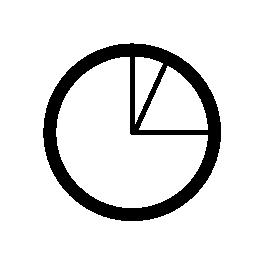 円グラフの無料のアイコンで表されるビジネス統計