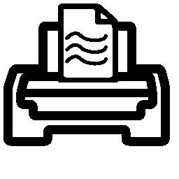 プリンターのアウトライン テキスト行と紙のページの無料のアイコン