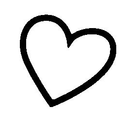 心臓形状の輪郭の無料アイコン