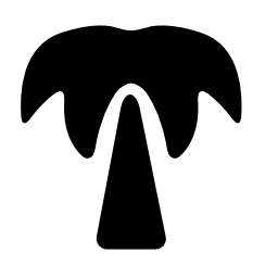 パーム ツリー黒い図形無料アイコン