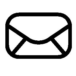 電子メール インターフェイス記号、丸みを帯びた形状の無料アイコンの封筒