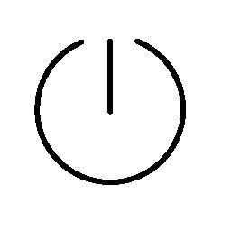 細い線のバージョンの無料アイコンの電源の普遍的なシンボル