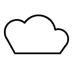 翼形状の輪郭の無料アイコン