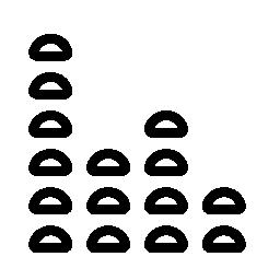ボリューム ライン インタ フェース シンボル バリアント無料アイコン