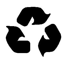 無料のアイコンを 3 つの矢の普遍的なシンボルをリサイクルします。