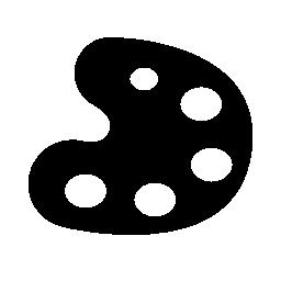 パレット芸術のコピーツール黒い図形バージョン無料アイコン