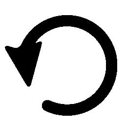 曲線の黒い矢印無料アイコン