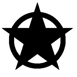 星の形とサークル無料アイコン
