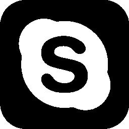 角丸の正方形で Skype ロゴ無料アイコン