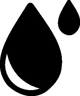 2 つの異なるサイズの無料アイコンの滴