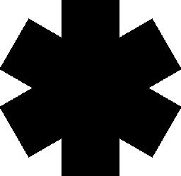 アスタリスク総黒い図形無料アイコン