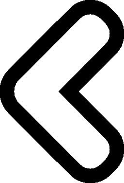 左の無料アイコンを指すシェブロン矢印のアウトライン