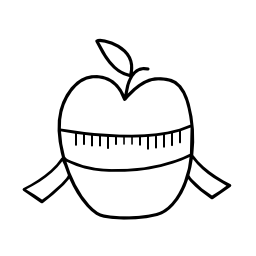 リンゴの皮をむいた無料アイコン