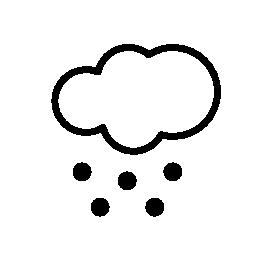 無料ベクトルのアイコンの最大のデータベース雪の天気でクラウド シンボル無料アイコン