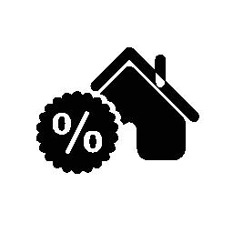 割合無料アイコンのシンボルの家