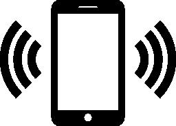 携帯電話のリンギング無料アイコン