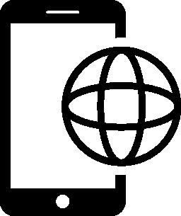 携帯電話国際コミュニケーション ツール無料アイコン