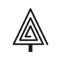 三角形の螺旋形の無料アイコンのクリスマス ツリー