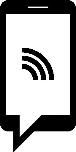 Wifi 信号の無料アイコンと携帯電話のチャット