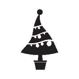 クリスマス ツリー装飾無料アイコン