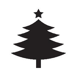 トップ無料のアイコンを fivepointed のスターとクリスマス ツリー形