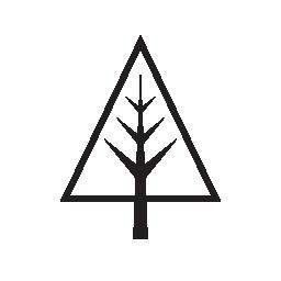 クリスマス ツリー、天然パイン ツリー無料アイコン