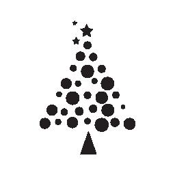 クリスマス ツリーのボール無料アイコンから成っています。