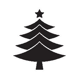 クリスマス ツリーのトップ無料アイコンのアスタリスクが付いた三角形の形状