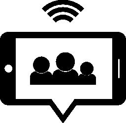 電話で wifi 接続無料アイコン グループ チャット