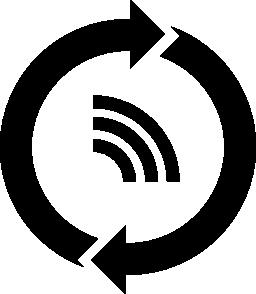 フィード コンテンツの円形矢印無料アイコンをリフレッシュします。