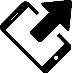 電話送信データ状態無料アイコンの矢印記号を使用して左に回転