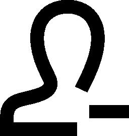 ユーザーは、インタ フェース シンボル無料アイコンを削除します。