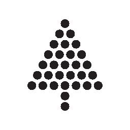 クリスマス ツリー形作られたボール無料アイコン
