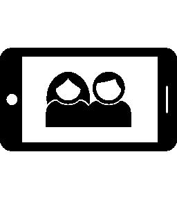 携帯電話画面無料アイコンのカップルの肖像画のイメージ