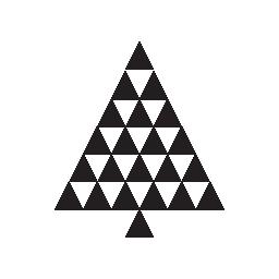 無料アイコンの三角形によって形成されたクリスマス ツリー