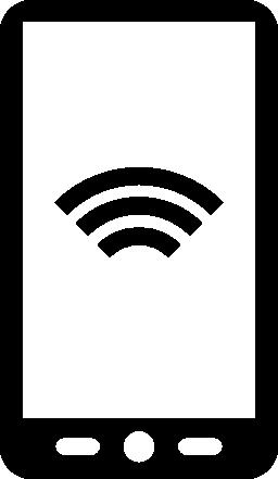 スクリーンの無料アイコンの wifi 信号のシンボルとタブレットします。