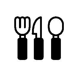 IOS 7 インターフェイス無料アイコンのレストラン カトラリー記号