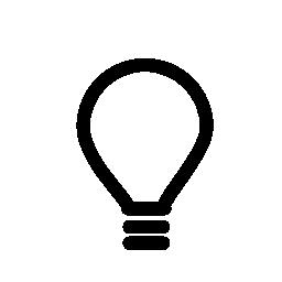 電球、アイデア、IOS 7 インタ フェース シンボル無料アイコン