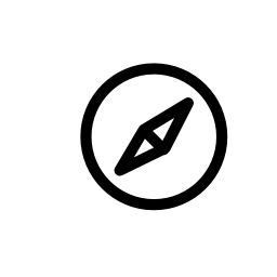 サファリ コンパス ロゴ、IOS 7 インタ フェース シンボル無料アイコン