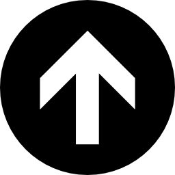 黒い円の無料のアイコンを矢印