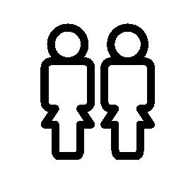 人アウトライン、IOS 7 インタ フェース シンボル無料アイコンのカップル