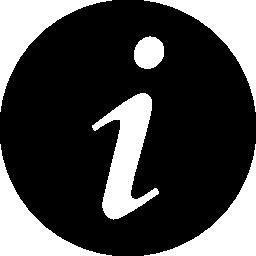 情報円形のボタン無料アイコン