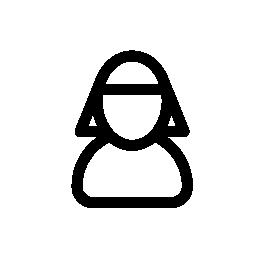 女性の近くを IOS 7 インタ フェース シンボル無料アイコン