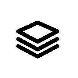 視点で、IOS 7 インタ フェース シンボル無料アイコンの 3 つの積み上げ広場