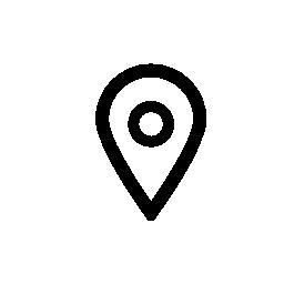 マップの IOS 7 インターフェイス無料アイコンのシンボルをマークします。