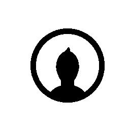 黒い図形の内部、IOS 7 インタ フェース シンボル無料アイコンの付いた円