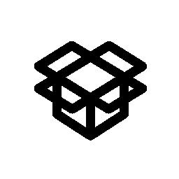 Dropbox が、IOS 7 インタ フェース シンボル無料アイコン