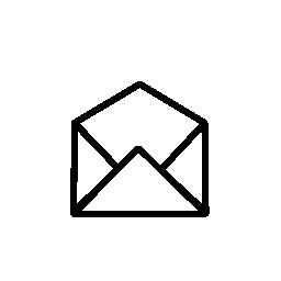 IOS 7 インターフェイス無料アイコンの開いた電子メール メッセージ エンベロープ シンボル